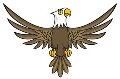Het beeldverhaal van de adelaar Stock Foto