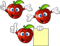 Het beeldverhaal van de appel Stock Foto