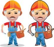 Het beeldverhaal van de arbeider Stock Foto's
