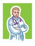 Het beeldverhaal van de arts Stock Afbeeldingen