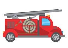 Het beeldverhaal van de brandvrachtwagen Stock Afbeelding
