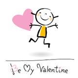 Het beeldverhaal van de Dag van de valentijnskaart stock illustratie