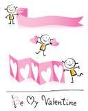 Het beeldverhaal van de Dag van de valentijnskaart royalty-vrije illustratie