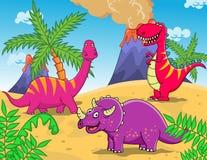 Het beeldverhaal van de dinosaurus Stock Foto