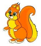 Het beeldverhaal van de eekhoorn Stock Foto