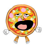 Het beeldverhaal van de geeuwpizza Stock Foto's