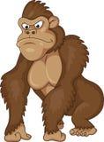 Het beeldverhaal van de gorilla Stock Fotografie