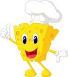 Het beeldverhaal van de kaaschef-kok vector illustratie