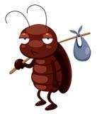 Het beeldverhaal van de kakkerlak gaat weg Stock Afbeeldingen
