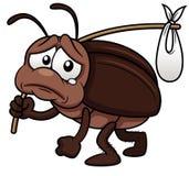 Het beeldverhaal van de kakkerlak gaat weg Royalty-vrije Stock Afbeelding
