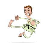 Het beeldverhaal van de karatemens royalty-vrije illustratie