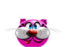 Het beeldverhaal van de kat Stock Foto's