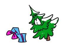 Het beeldverhaal van de kerstboomgift Royalty-vrije Stock Foto's