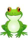 Het beeldverhaal van de kikker Stock Foto