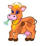 Het beeldverhaal van de koe Stock Afbeelding