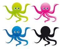 Het beeldverhaal van de octopus Stock Foto