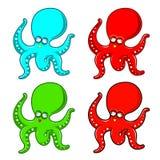 Het Beeldverhaal van de octopus Stock Foto's