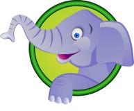 Het beeldverhaal van de olifant Stock Foto