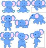 Het beeldverhaal van de olifant Stock Afbeeldingen