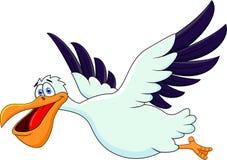 Het beeldverhaal van de pelikaan Royalty-vrije Stock Foto