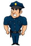 Het beeldverhaal van de politieagent Royalty-vrije Stock Foto