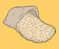 Het Beeldverhaal van de rijstzak Royalty-vrije Stock Afbeeldingen