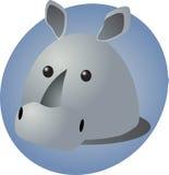 Het beeldverhaal van de rinoceros Stock Fotografie
