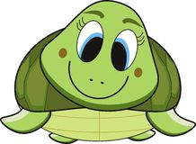 Het beeldverhaal van de schildpad Stock Afbeeldingen
