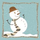 Het beeldverhaal van de sneeuwman Royalty-vrije Stock Fotografie