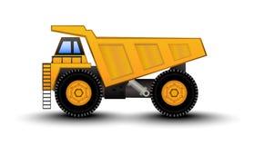 Het Beeldverhaal van de stortplaatsvrachtwagen vector illustratie