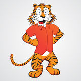 Het Beeldverhaal van de tijger Royalty-vrije Stock Afbeelding