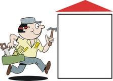 Het beeldverhaal van de timmerman Stock Afbeelding