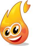 Het beeldverhaal van de vlam Stock Fotografie
