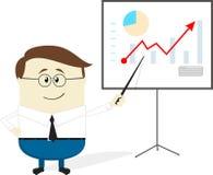 Het beeldverhaal van de zakenmangrafiek Stock Foto's