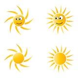 Het beeldverhaal van de zon Stock Foto's