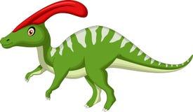 Het beeldverhaal van dinosaurusparasaurolophus Stock Foto's