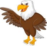 Het beeldverhaal van Eagle het golven royalty-vrije illustratie