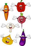 Het beeldverhaal van groenten royalty-vrije illustratie