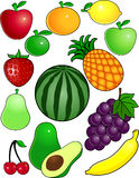 Het beeldverhaal van het fruit vector illustratie