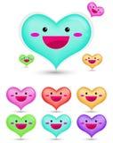 Het beeldverhaal van het hart vector illustratie