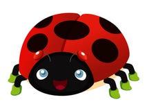 Het beeldverhaal van het lieveheersbeestje Stock Afbeelding