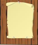 Het beeldverhaal van het perkament stock illustratie