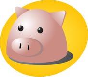 Het beeldverhaal van het varken Stock Foto's