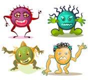 Het beeldverhaal van het virus Royalty-vrije Stock Afbeeldingen