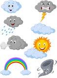 Het beeldverhaal van het weersymbool Stock Foto