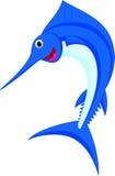 Het beeldverhaal van marlijnvissen Stock Fotografie