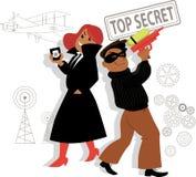 Het beeldverhaal van spionjonge geitjes Royalty-vrije Stock Afbeelding
