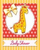 Het beeldverhaal vectorillustratie van de girafbaby Royalty-vrije Stock Afbeelding