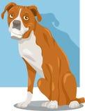 Het beeldverhaalillustratie van de bokserhond Stock Foto's