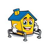 Het beeldverhaalillustratie van de huisrehabilitatie Stock Foto